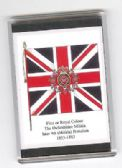 OXFORDSHIRE MILITIA COLOURS 1855 LARGE FRIDGE MAGNET